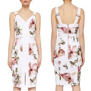 Ted Baker Irasela Harmony Floral Panel Dress White